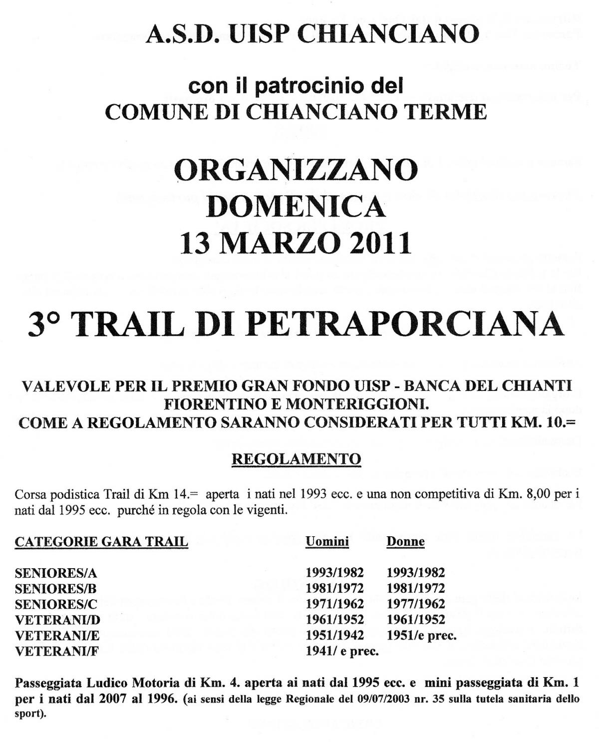 Calendario Del 1977.Wwwgiusepperosatinet Trail Di Pietraporciana 2011